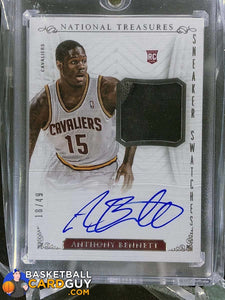 Anthony Bennett 2013-14 Panini National Treasures Sneaker Swatches Autographs #18/49 - Basketball Cards
