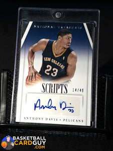 Anthony Davis 2013-14 Panini National Treasures Scripts #14/49 - Basketball Cards