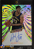 Anthony Davis 2015-16 Panini Revolution Autographs #5 autograph, basketball card, numbered, prizm, refractor