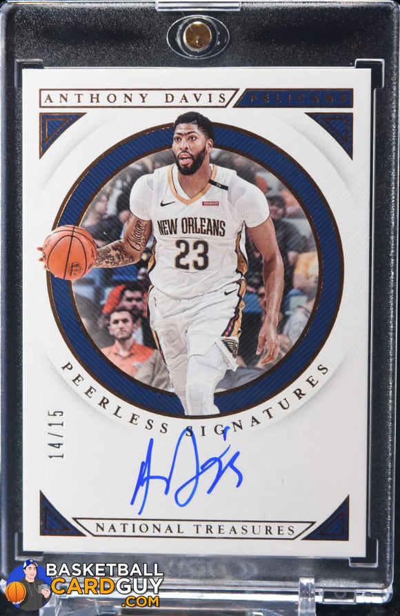 Anthony Davis 2018-19 Panini National Treasures Peerless Signatures Bronze #/15 - Basketball Cards