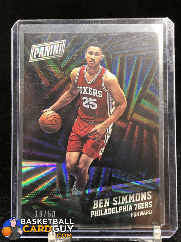 Ben Simmons 2016 Panini Black Friday Wedges #/50 basketball card numbered