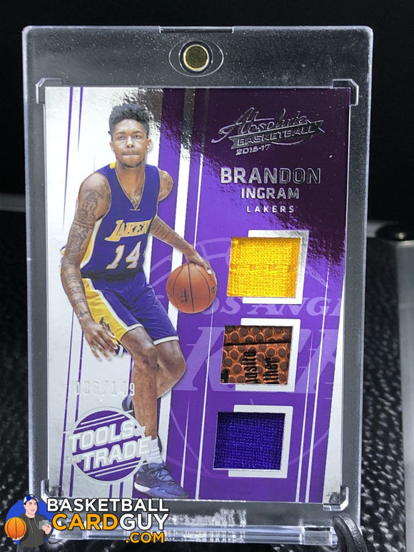 Brandon Ingram 2016-17 Absolute Memorabilia Tools Of The Trade Rookie Materials Trio /149 Basketball Card Jersey Rookie Card