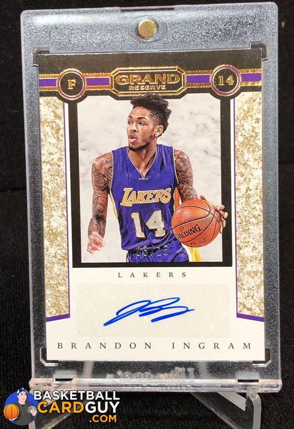 Brandon Ingram 2016-17 Panini Grand Reserve Grand Autographs Granite #/15 - Basketball Cards