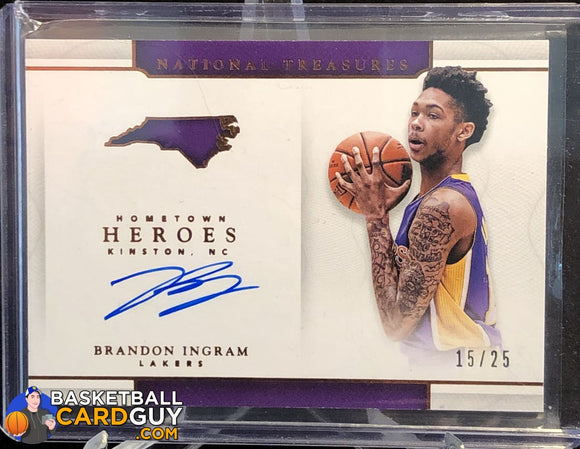 Brandon Ingram 2016-17 Panini National Treasures Hometown Heroes Bronze #/25 autograph basketball card