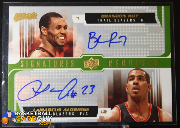 Brandon Roy/LaMarcus Aldridge 2008-09 Upper Deck MVP Signatures Required #SRAR autograph, basketball card