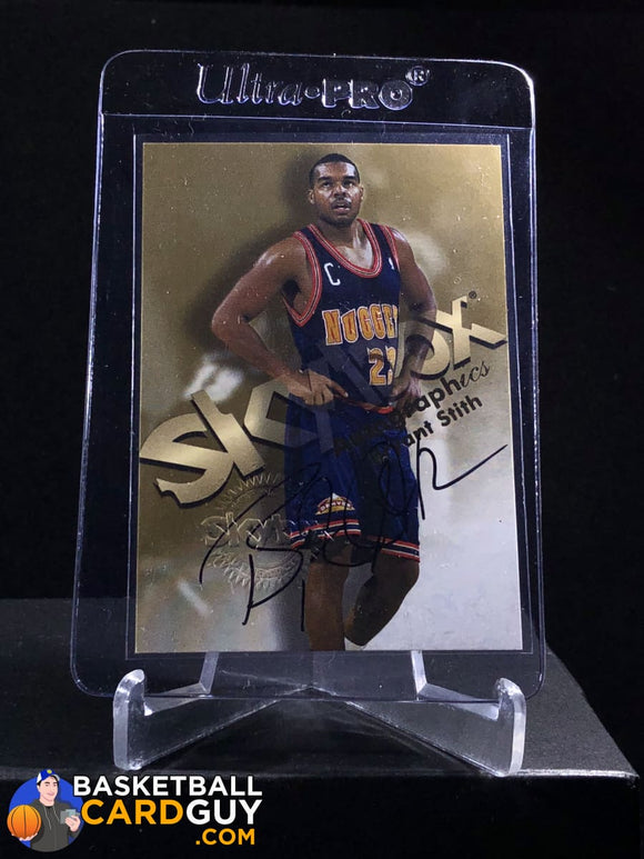 Bryant Stith 1998-99 Skybox Premium Autographics - Basketball Cards