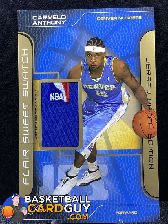 Carmelo Anthony 2003-04 Flair Sweet Swatch Jumbos Patches RC NBA LOGOMAN /30 - Basketball Cards