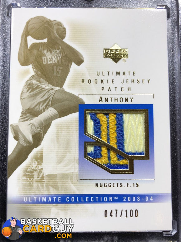 Carmelo Anthony 2003-04 Ultimate Collection Rookie Patch - Basketball Cards