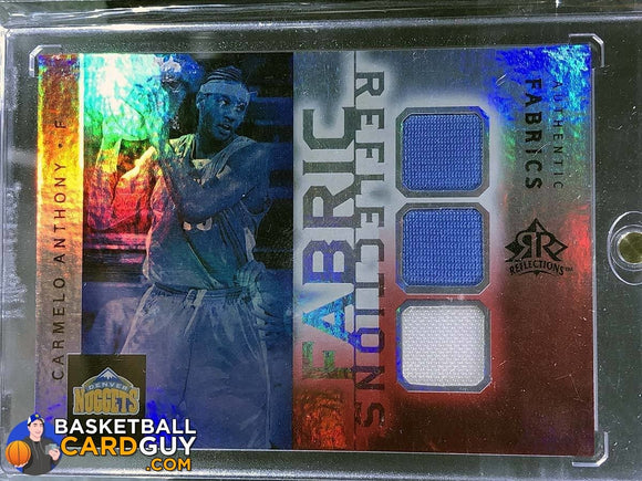 Carmelo Anthony 2005-06 Reflections Fabrics Triple Swatch - Basketball Cards