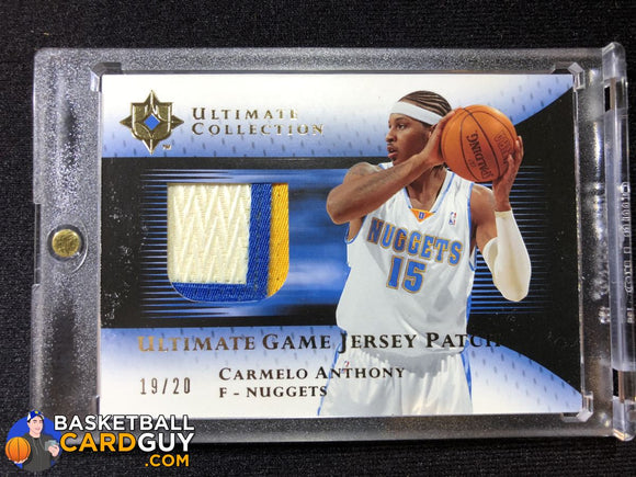Carmelo Anthony 2005-06 Ultimate Collection Patches Gold #UJPCA - Basketball Cards