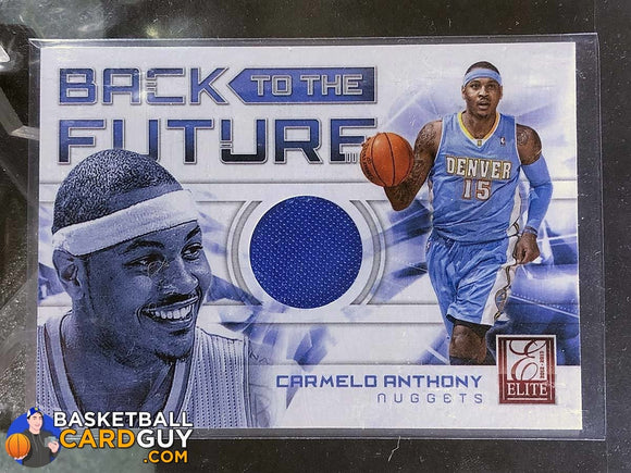 Carmelo Anthony 2012-13 Elite Back to the Future Materials - Basketball Cards