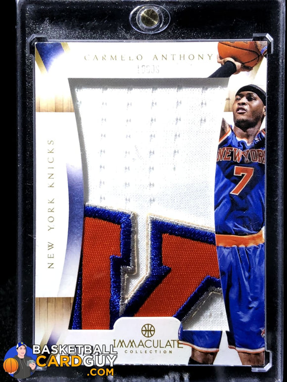 Carmelo Anthony 2012-13 Immaculate Collection Logos #/21 autograph basketball card rookie card