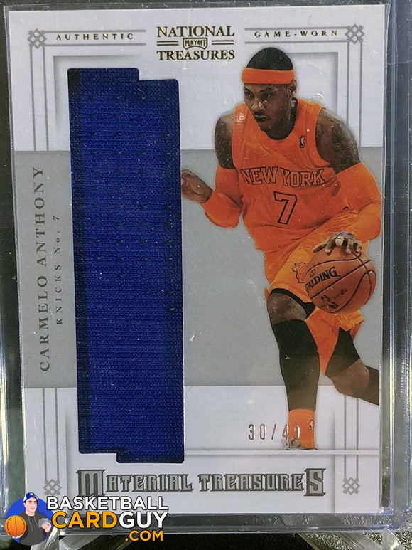 Carmelo Anthony 2012-13 Panini National Treasures Material Treasures - Basketball Cards