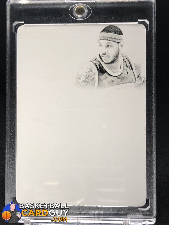 Carmelo Anthony 2013-14 Flawless Patch Auto Black Plate #31 1/1 - Basketball Cards
