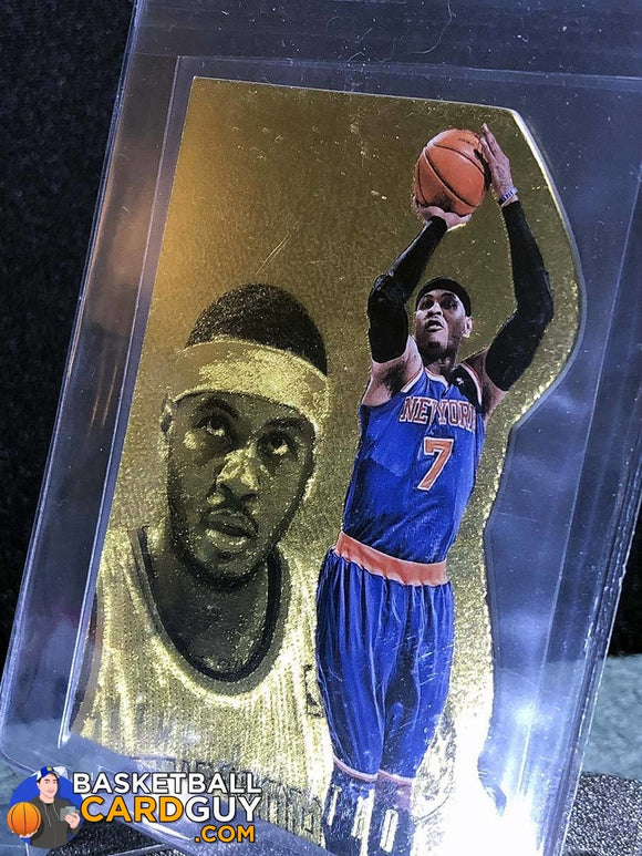 Carmelo Anthony 2013-14 Panini Intrigue Intriguing Players Die Cuts Gold #56 - Basketball Cards