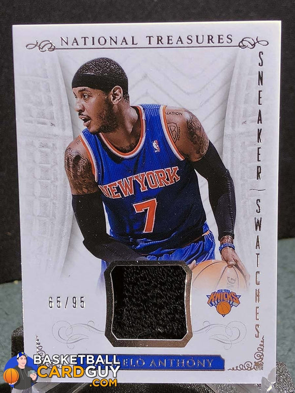 Carmelo Anthony 2013-14 Panini National Treasures Sneaker Swatches - Basketball Cards