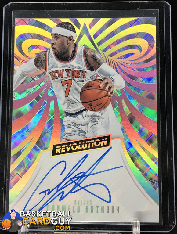 Carmelo Anthony 2015-16 Panini Revolution Autographs #11 autograph basketball card