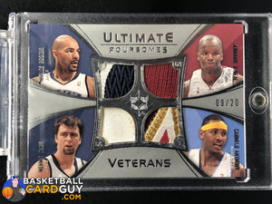 Carmelo Anthony/Jermaine O'Neal/Mehmet Okur/Carlos Boozer 2008-09 Ultimate Collection Patches Foursome Veterans #UFVAS07 - Basketball Cards