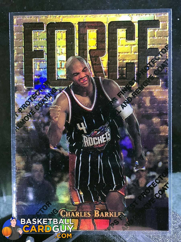 Charles Barkley  1997-98 Finest Gold Test Refractors /289 - Basketball Cards
