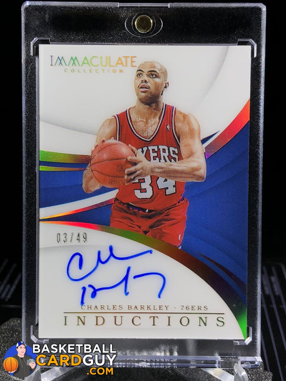 Charles Barkley 2017-18 Immaculate Collection Immaculate Inductions Autographs/49 - Basketball Cards