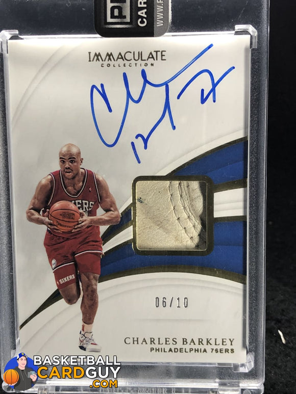 Charles Barkley 2018-19 Immaculate Collection Sneaker Swatches Signatures #/10 - Basketball Cards