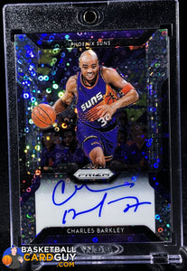 Charles Barkley 2018-19 Panini Prizm Fast Break Autographs (Rare Silver Disco) - Basketball Cards