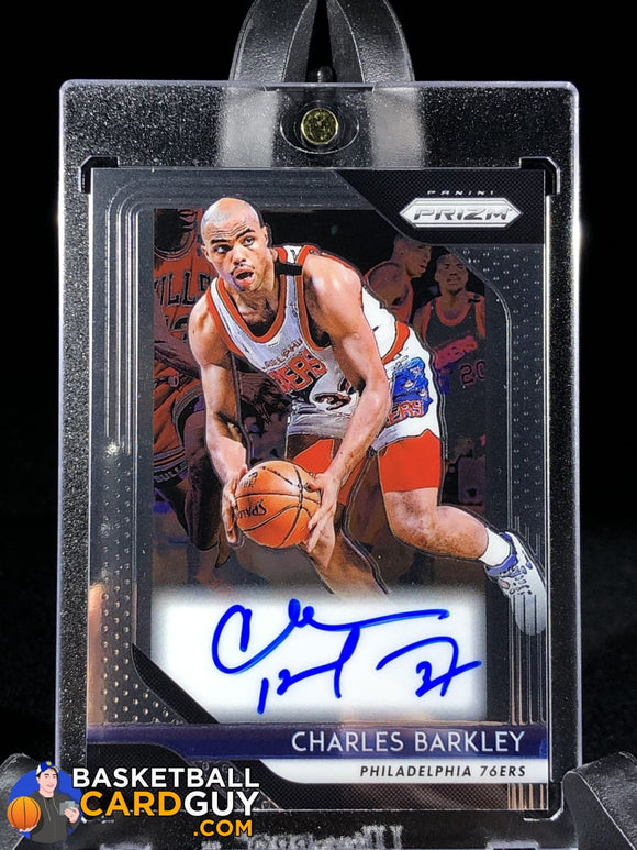 Charles Barkley 2018-19 Panini Prizm Signatures - Basketball Cards