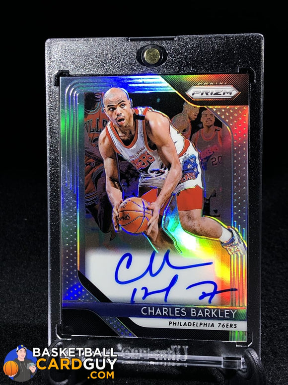 Charles Barkley 2018-19 Panini Prizm Silver Prizm Signatures - Basketball Cards
