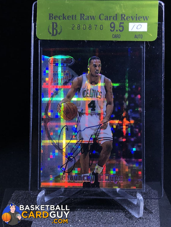 Chauncey Billups 1997-98 Bowman's Best Autographs Atomic Refractors - Basketball Cards