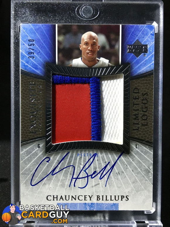 Chauncey Billups 2005-06 Exquisite Limited Logos 39/50 - Basketball Cards