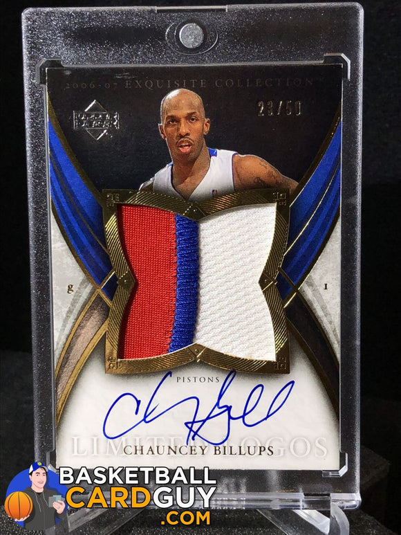 Chauncey Billups 2006-07 Exquisite Collection Limited Logos 23/50 - Basketball Cards