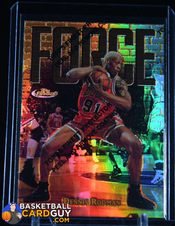 Copy of Dennis Rodman 1997-98 Finest Refractors #167 GOLD /289 NN basketball card, numbered, refractor