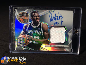 David Robinson 2014-15 Panini Spectra Hall of Fame Autograph Materials #/35 - Basketball Cards