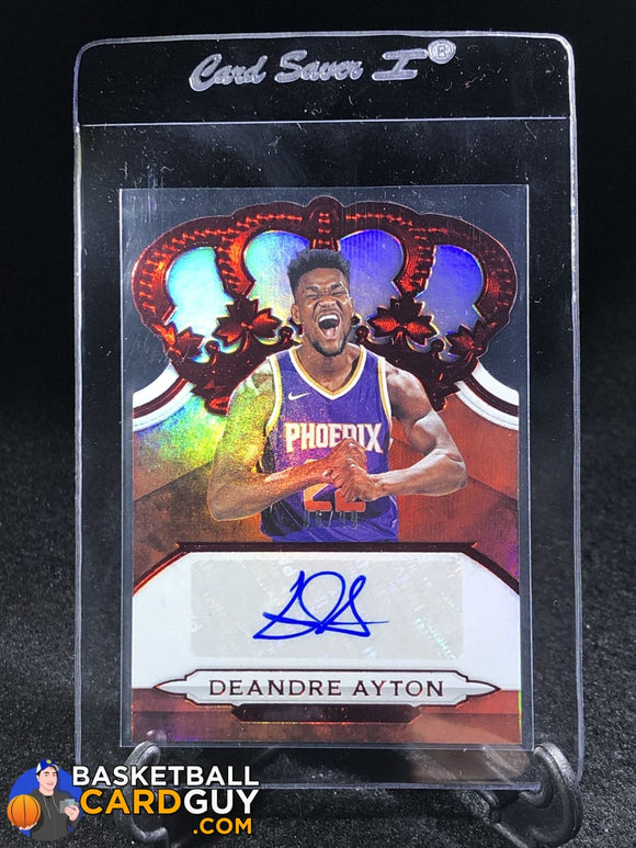 Deandre Ayton 2018-19 Crown Royale Crown Autographs Rookies Red #17 - Basketball Cards