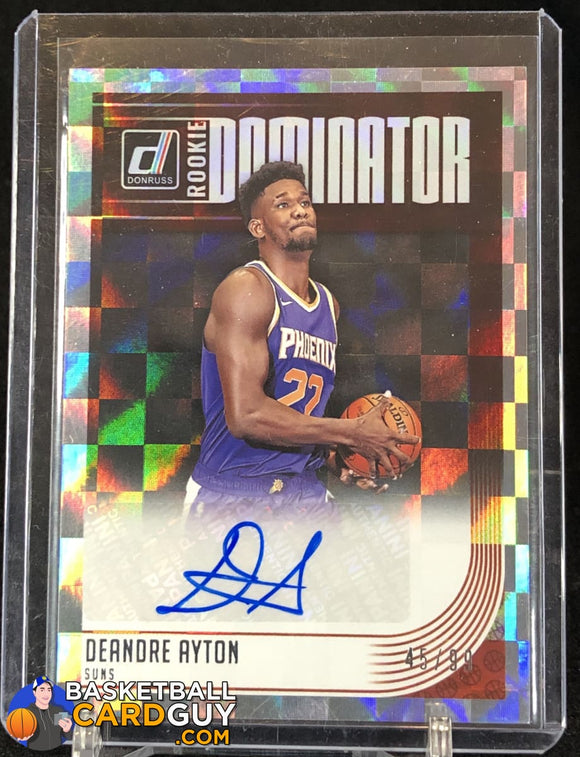 Deandre Ayton 2018-19 Donruss Rookie Dominator Signatures #/99 - Basketball Cards