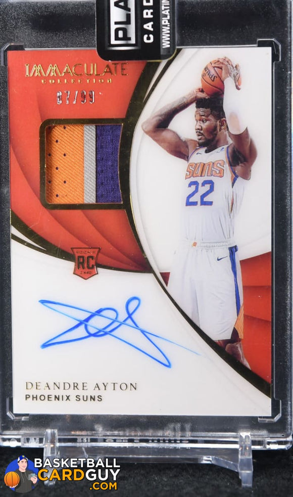 Deandre Ayton 2018-19 Immaculate Collection #106 JSY AU RC #/99 - Basketball Cards