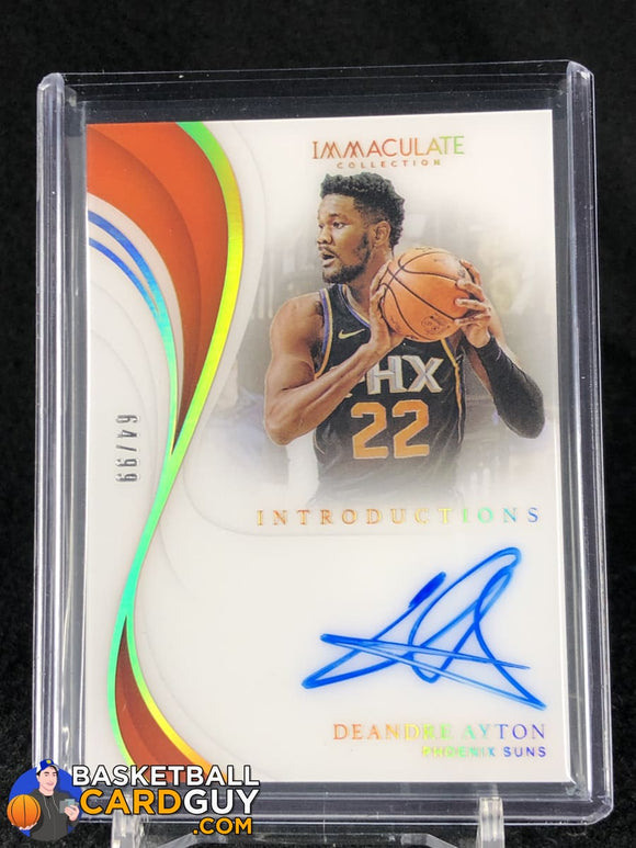Deandre Ayton 2018-19 Immaculate Collection Immaculate Introductions Autographs #/99 - Basketball Cards