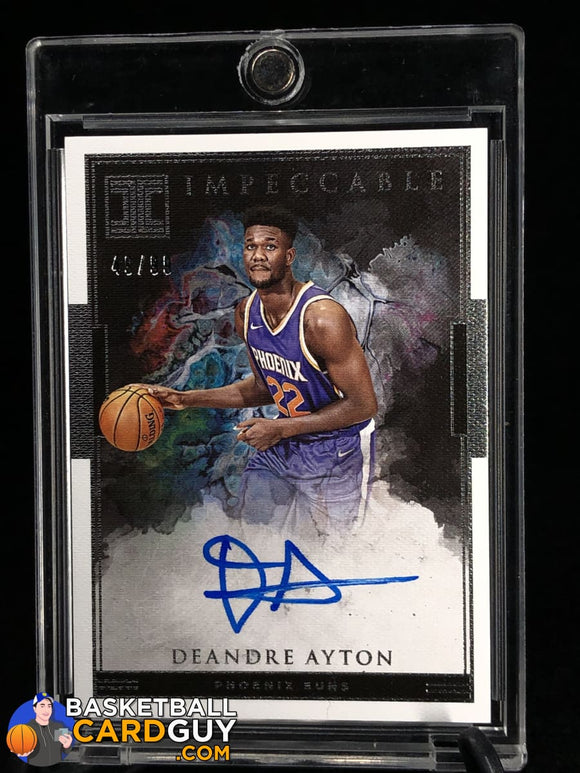 Deandre Ayton 2018-19 Panini Impeccable Impeccable Rookie Signatures #1 - Basketball Cards