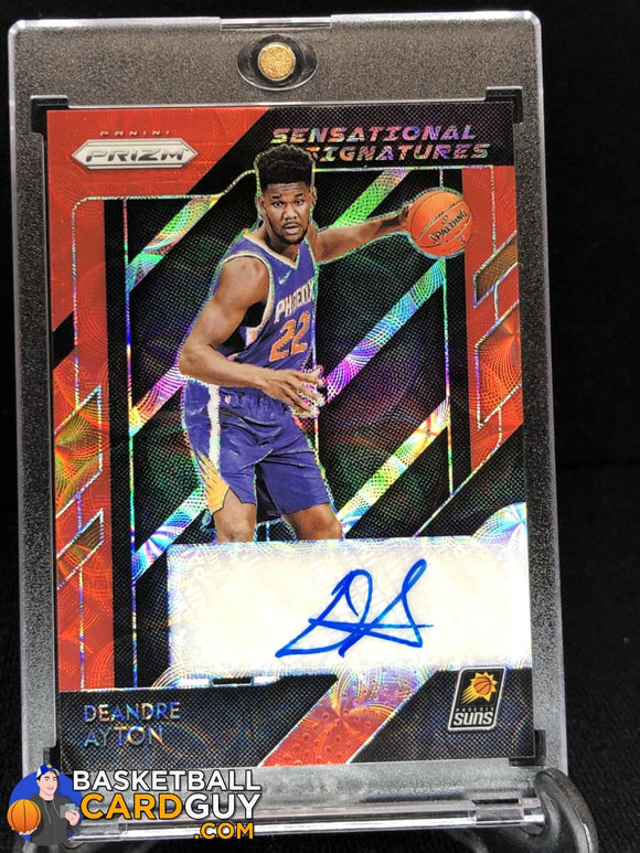 Deandre Ayton 2018-19 Panini Prizm Sensational Signatures Prizms Choice Red - Basketball Cards