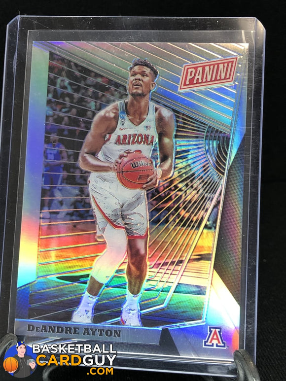 DeAndre Ayton 2018 Panini National Convention Gold VIP Prizm #/99 basketball card numbered rookie card