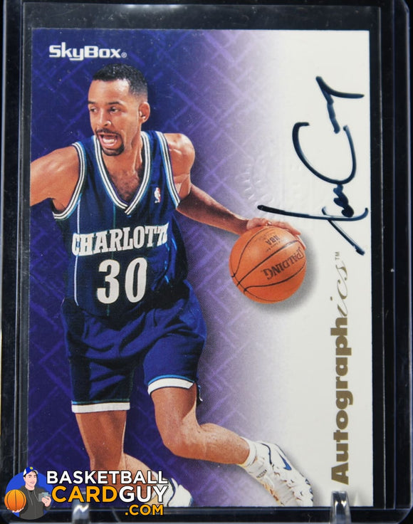 Dell Curry 1996-97 Skybox Autographics (Stephen Curry's Father) autograph, basketball card