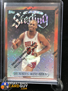 Dennis Rodman 1996-97 Finest Refractors #5 Bronze (NO GREEN!) basketball card refractor
