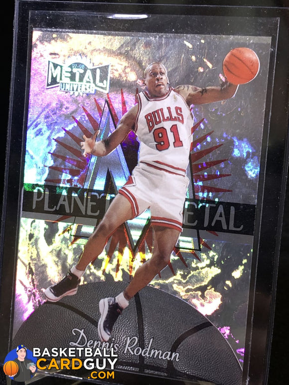 Dennis Rodman 1997-98 Metal Universe Planet Metal #10 - Basketball Cards
