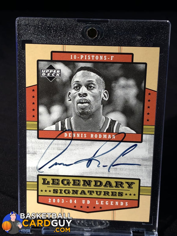Dennis Rodman 2003-04 Upper Deck Legends Legendary Signatures #DR - Basketball Cards