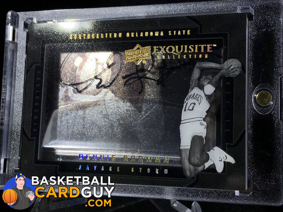 Dennis Rodman 2011-12 Exquisite Collection Dimensions Autographs - Basketball Cards