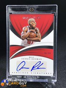 Dennis Rodman 2017-18 Immaculate Collection Heralded Signatures #17 Dennis Rodman/99 - Basketball Cards