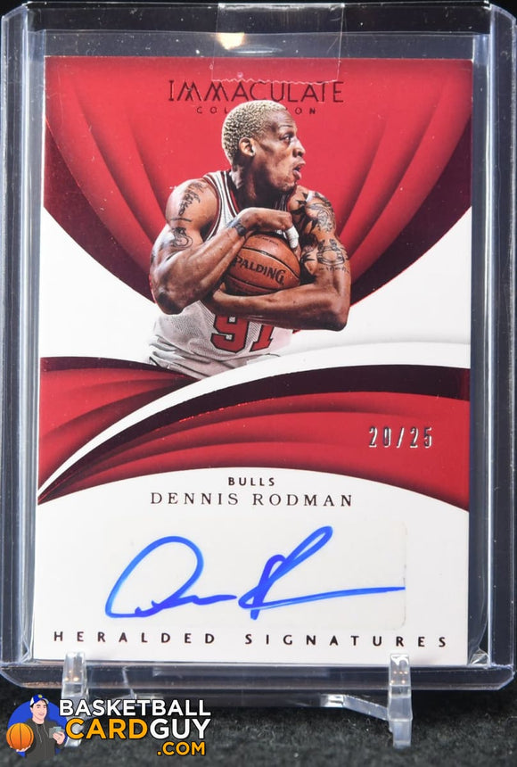 Dennis Rodman 2017-18 Immaculate Collection Heralded Signatures Red #/25 - Basketball Cards