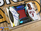Derrick Rose 2008-09 Exquisite Collection Limited Throwback Logos Autographs basketball card