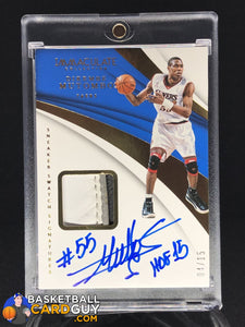 Dikembe Mutombo 2017-18 Immaculate Collection Sneaker Swatches Signatures #/15 - Basketball Cards
