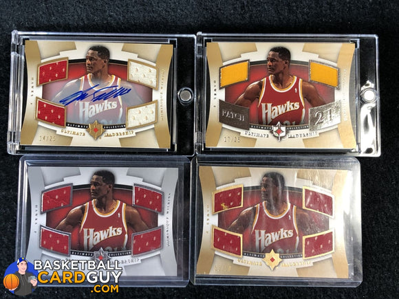 Dominique Wilkins 2007-08 Ultimate Collection Leadership SET - Autograph, Patch, Gold, Silver Lot - Basketball Cards